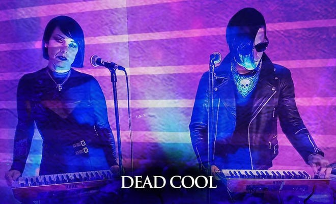 Angela and Johnny Yeagher of Wilmington goth/darkwave band Dead Cool.