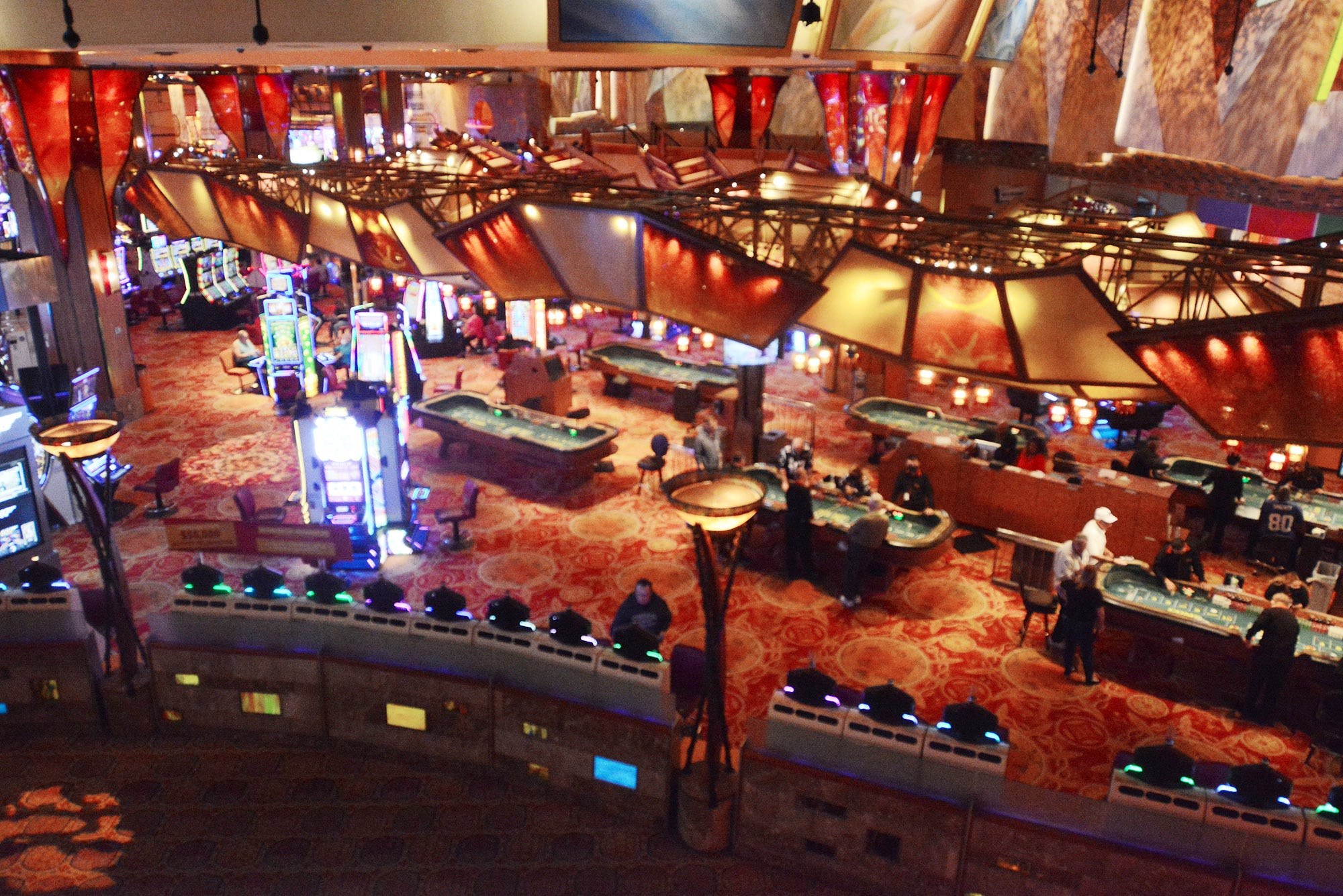 The Casino of the Sky gaming area at Mohegan Sun.