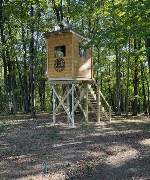 A tree stand for Vietnam veteran Sgt. John Smith of Salineville was built by Veterans Outdoor Adventures.