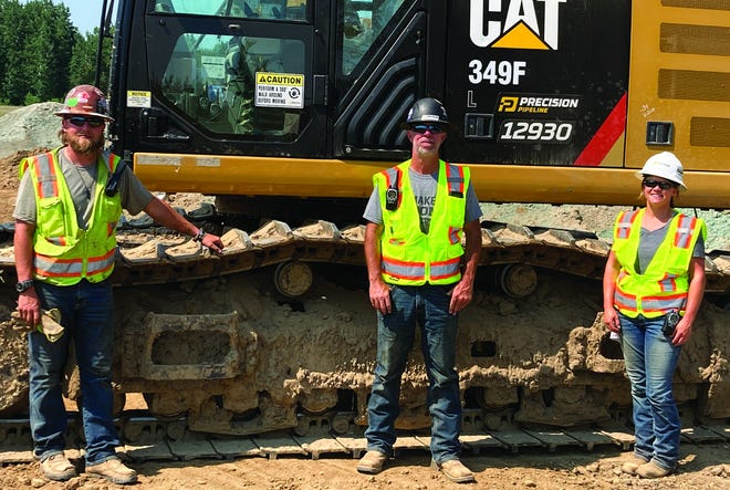 """Precision Pipeline, LLC, employees, left to right: Cole Cathey, Chad """"Hank"""" Jensen, Jacquelyn Tofsly."""