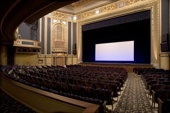 The ornate Detroit Film Theatre, built in 1927, can  seat up to 1,050, but seating will be limited to 300 for each event when it reopens later this month.