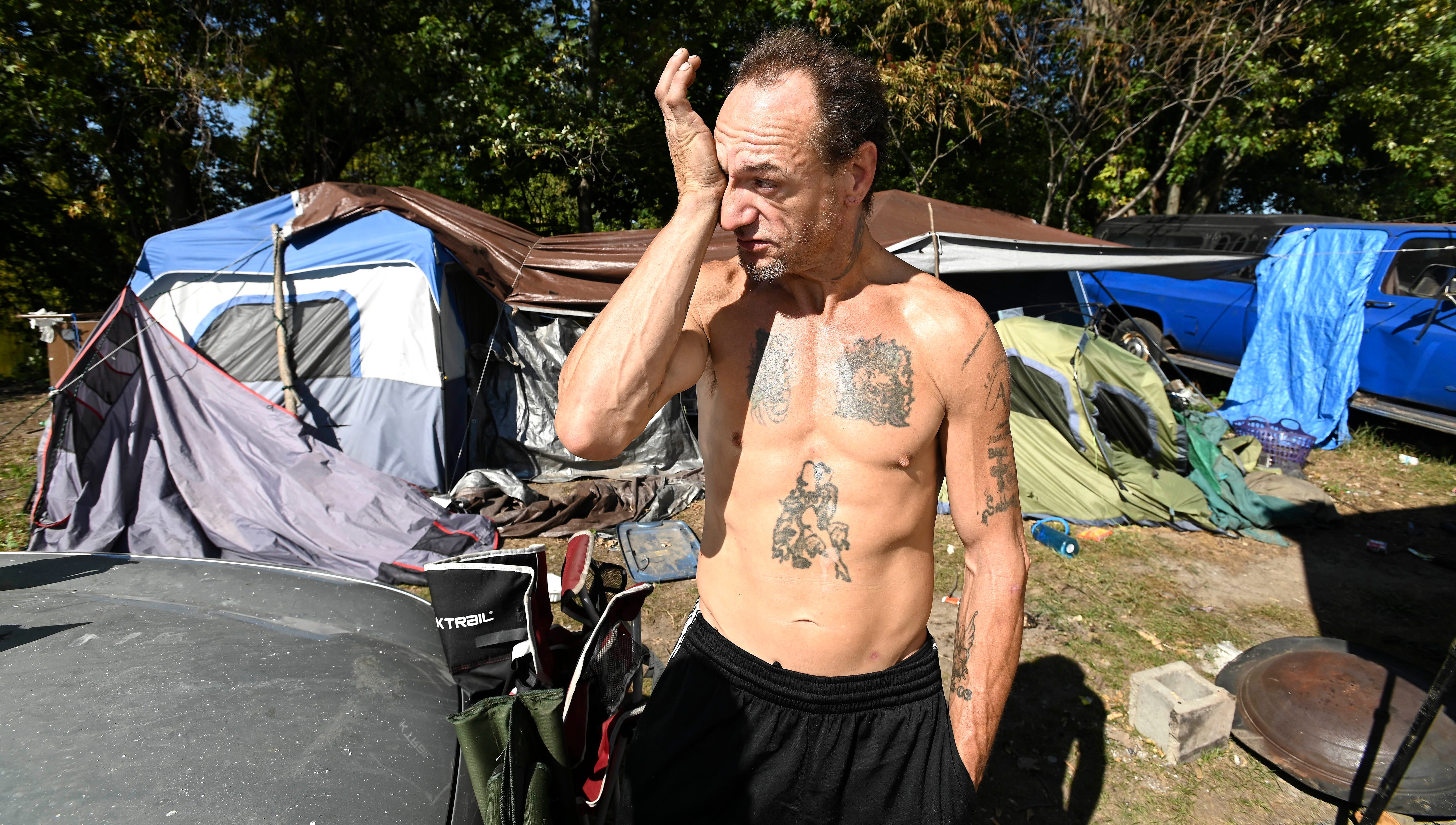 Inside the last days of the Tent City homeless camp in Michigan