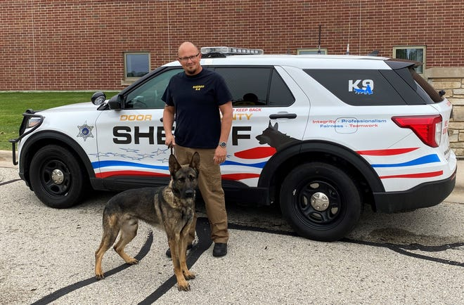 The Door County Sheriff's Office has acquired and is in the process of training a new police dog, Leo, pictured here with his handler, Deputy Matthew Tassoul.