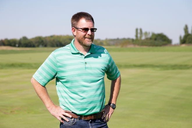 Aaron Patton, a a professor of Horticulture and a turf grass Extension specialist at Purdue University, stands for a portrait, Wednesday, Sept. 29, 2021 in West Lafayette. Patton was recently named as a fellow of the American Society of Agronomy.