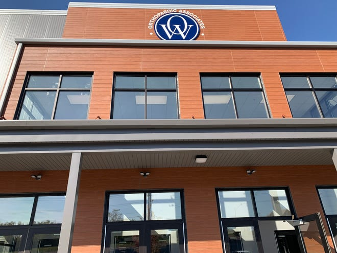 The main entrance to the OAW Indoor Sports Complex carries the name of the sponsor, Orthopaedic Associates of Wisconsin, which signed a 10-year naming rights deal early in 2021. The 153,000-square-foot facility is New Berlin is along Racine Avenue and National Avenue.