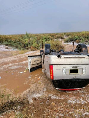 Three elderly individuals' injuries were minor to include cuts and bruises after their SUV rolled over on NM 11.