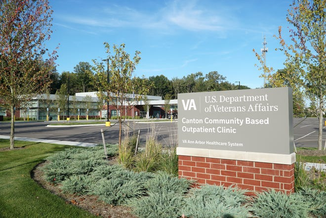 The new U.S. Department of Veterans Affairs Canton Community Based Outpatient Clinic on North Lotz Road.