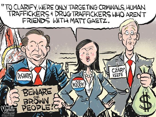 Marlette cartoon: Florida's preferred class of criminals