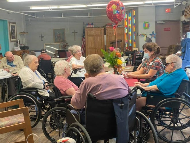 Long-term care employees such as Tammy Lorius, activities director at the Five Counties Nursing Home in Lemmon, have worked hard to keep residents safe and happy during the COVID-19 pandemic by hosting birthday parties and other events.