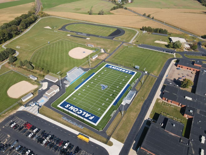Amherst's Heartland Farms Field, completed in 2019, is a finalist in the Midwest Sport and Turf Systems Home Field Pride campaign, hosted on Wissports.net.