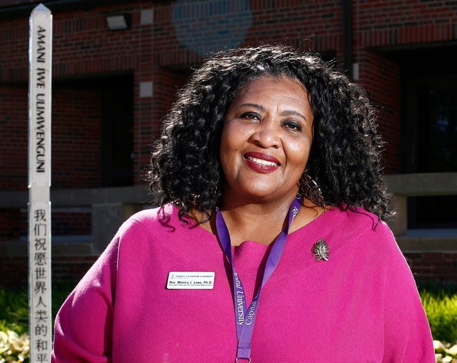 The Rev. Monica Lowe is assistant director for seminary admissions at Trinity Lutheran Seminary at Capital University. She has learned about womanist theology through her church, New Salem Baptist Church in Linden, her job at Trinity.