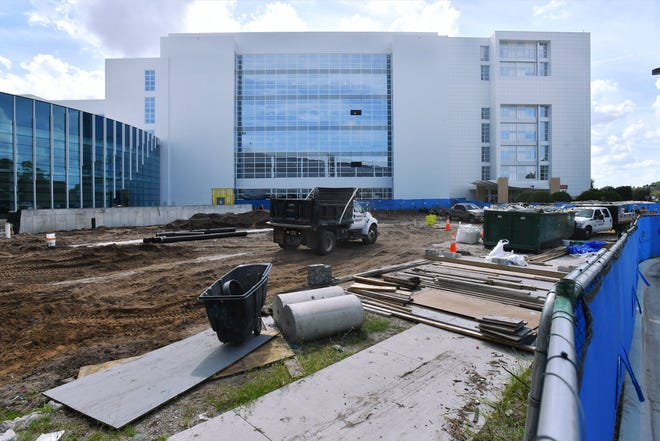 The new wing under construction at Mayo Clinic Jacksonville is among multiple expansion projects underway Oct. 1 at the internationally respected medical center.