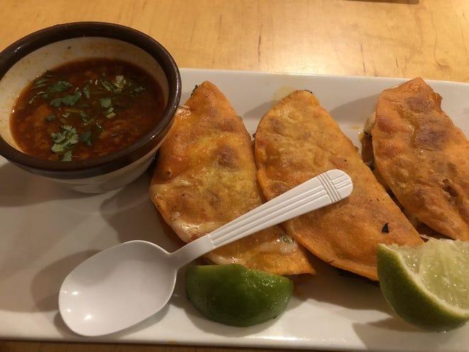 Birria tacos at Mi Antojo in New Bedford.