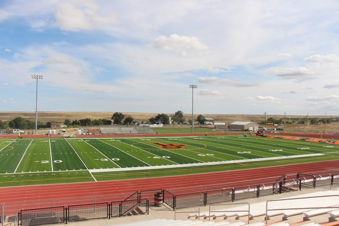 Work on La Junta's Tiger Stadium is nearly complete for the La Junta High School Homecoming on Oct. 8.