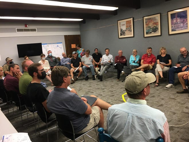 A group of interested people from both Granite Falls and Montevideo communities gathered for a meeting about a proposed trail expansion.