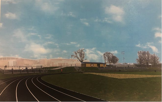 This design shows how Ben Martin Track will look in the future.