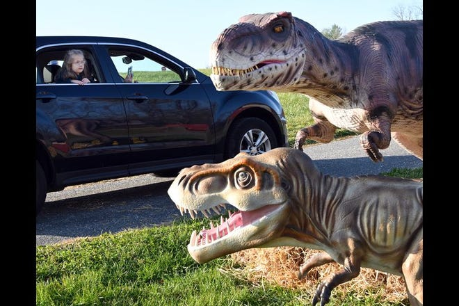 The Jurassic Wonder dinosaur drive-through event will take place Saturday and Sunday, Oct. 9-10 at the Boonville Oneida County Fairgrounds.