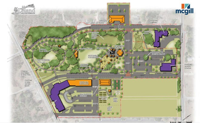Site plan for Founder Park, which received nearly $500,000 in grant funding from the state last week.