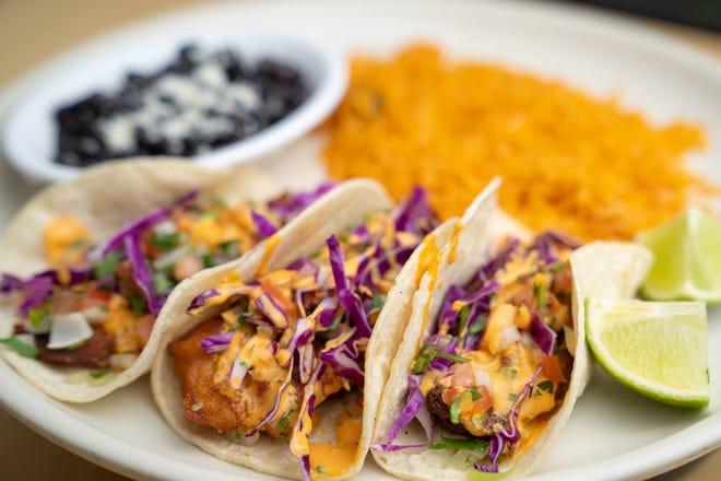 The baja fish taco at Fiesta Mexican Restaurant in Dartmouth.