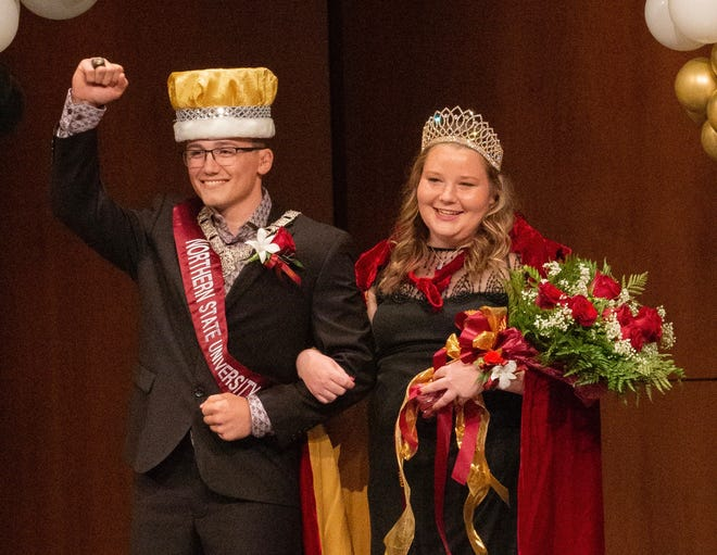Northern State University's homecoming marshal and queen are Garret Thompson and Ashley Bruzek. Coronation was Thursday.