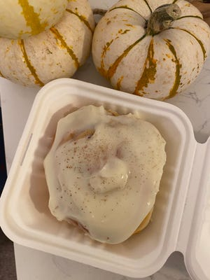 Thesepumpkin cinnamon rolls from Josey Baking Co. are baked fresh, soft and delicious and topped with a creamy, cream cheese frosting.