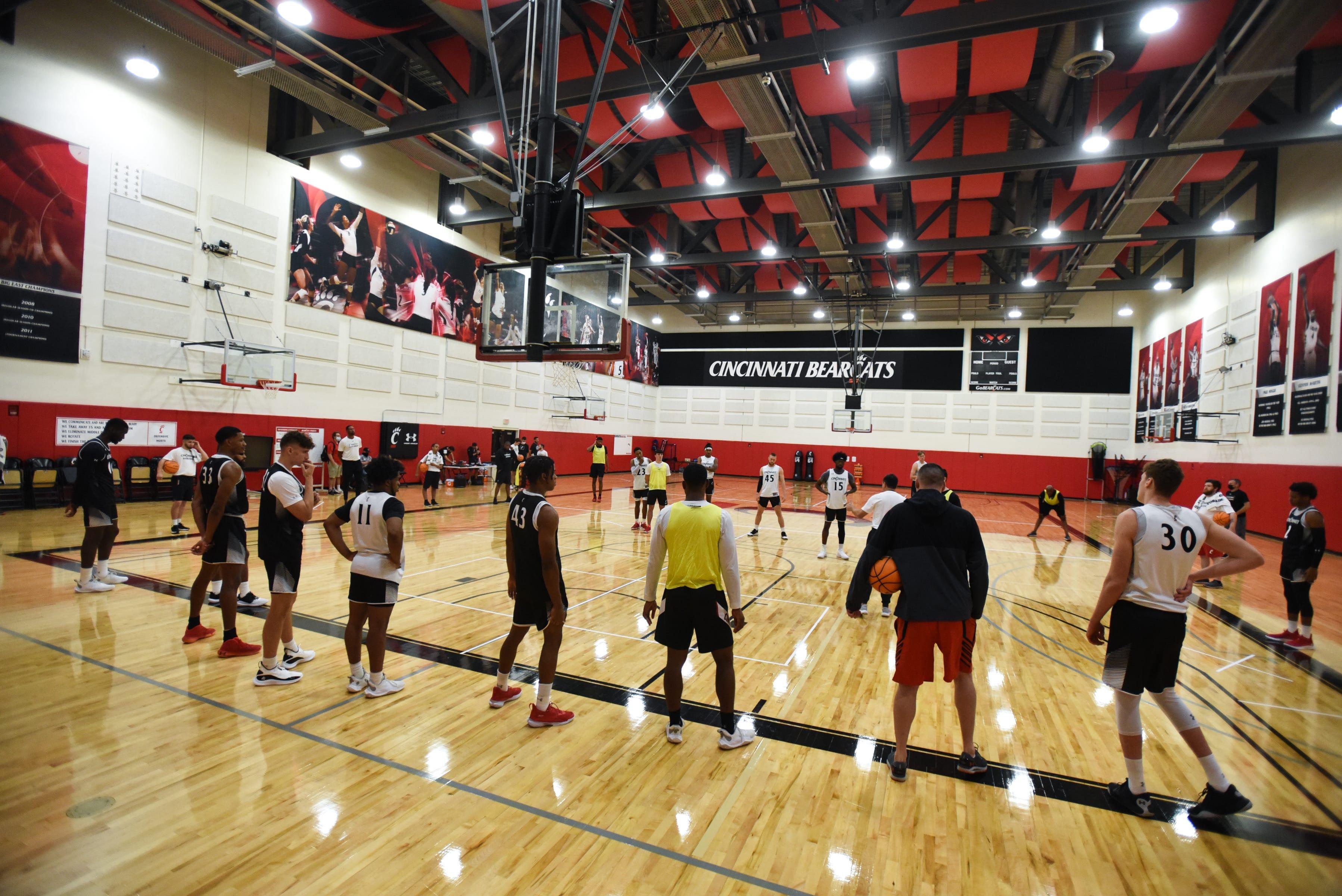 UC Bearcats basketball practice