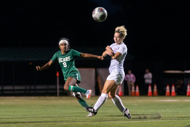 Metuchen and East Brunswick boys soccer teams played at East Brunswick High School on Sept. 30, 2021.
