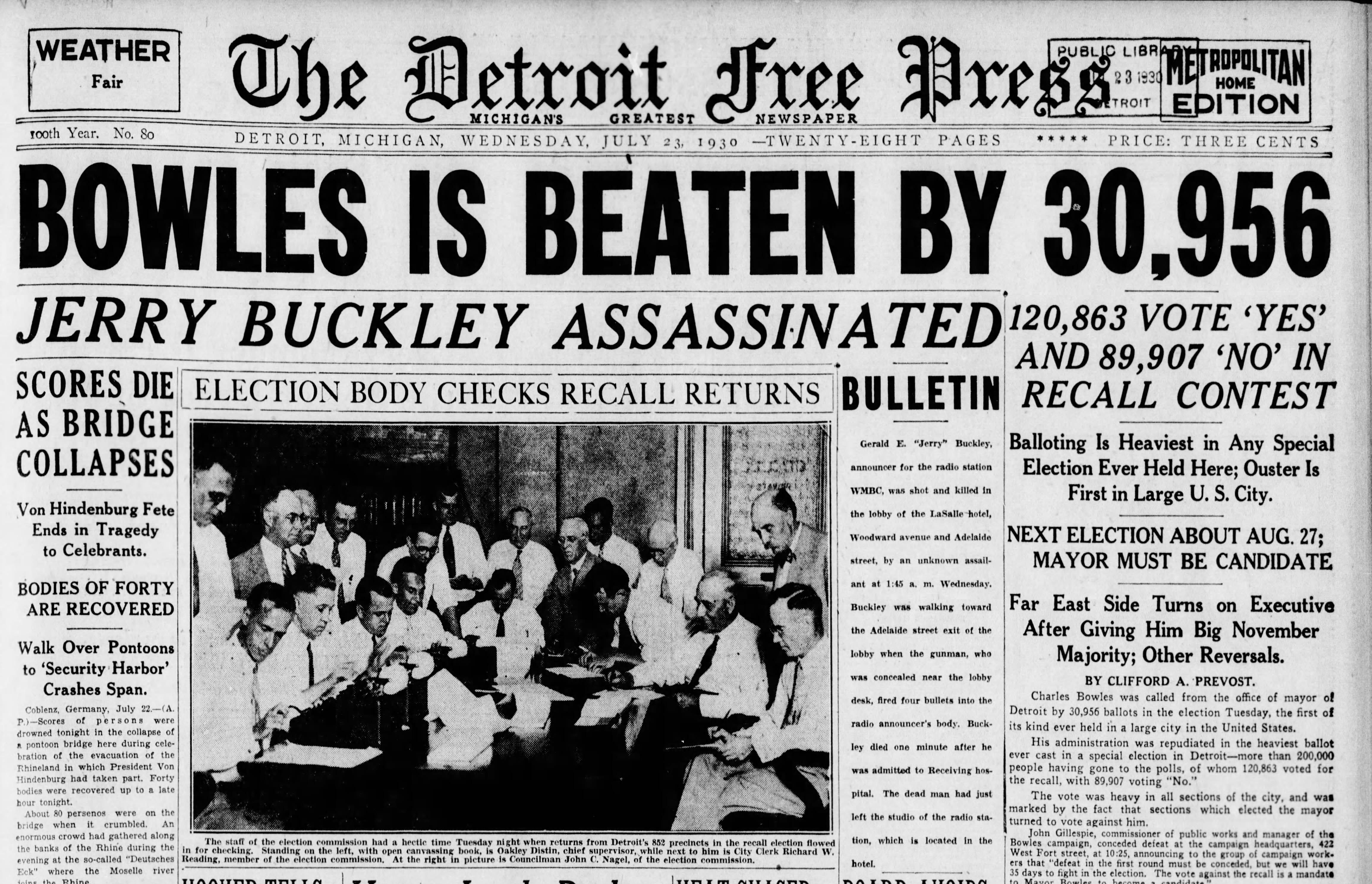 Murder of beloved radio host Jerry Buckley rockedDetroit in 1930. It's still unsolved.