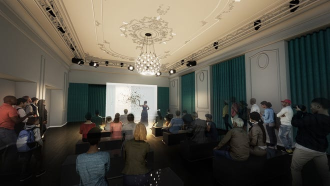A rendering of the planned Carr Center Performance Studio at the Park Shelton in Midtown Detroit, scheduled to open in spring 2022.