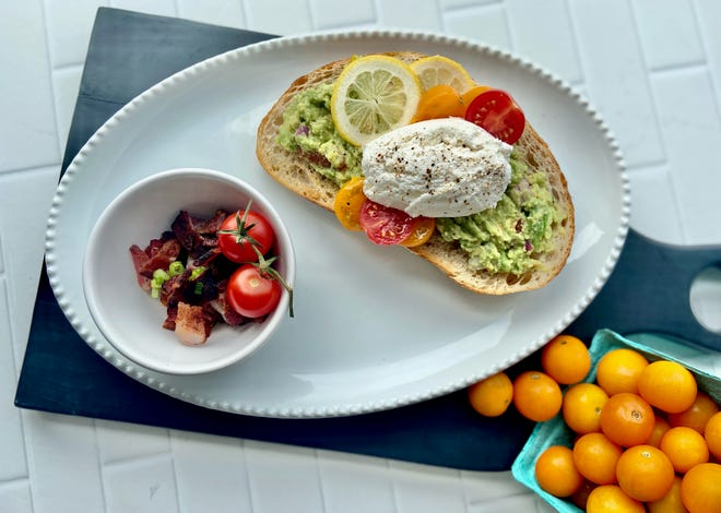 Plated and Cured avocado toast