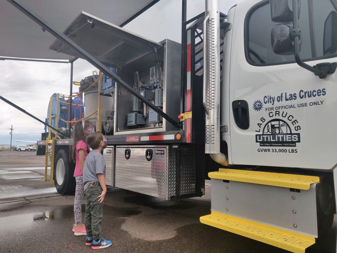 Children checking out the NO-DES truck at the 2021 Wings n Wheels Fest at the Las Cruces Airport.