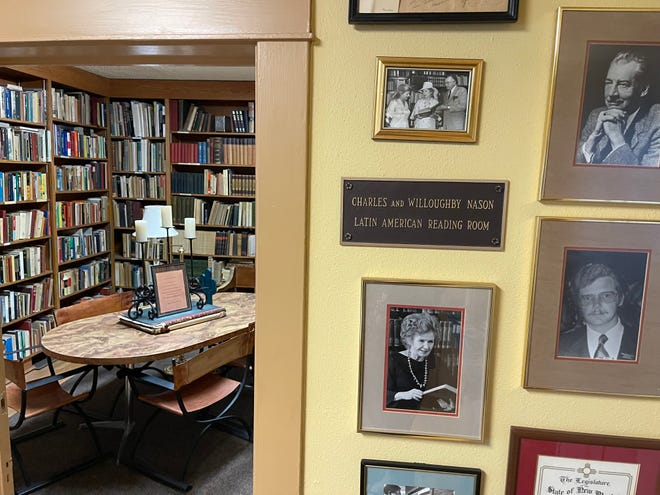 The Charles and Willougby Nason Latin American Reading room is home to the Nason collection consisting of books and artifacts from Latin America. The collection is available to scholars and has rare books that deal with early explorations of Central America as well as Meso-American archaeological items.