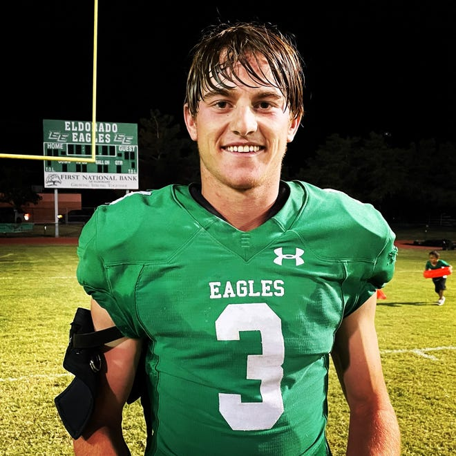 Eldorado High School's Cooper Meador was voted Standard-Times football player of the week for his performance in Week 5 of the 2021 season.