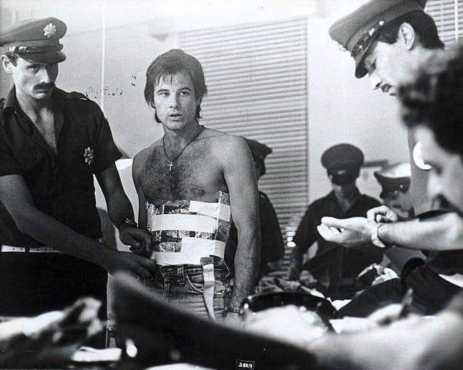 "Brad Davis in a scene from ""Midnight Express."""