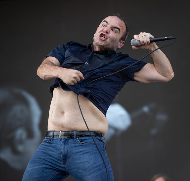 Samuel T. Herring of Future Islands performs at the Austin City Limits Music Festival in Zilker Park on Saturday October 2, 2021.