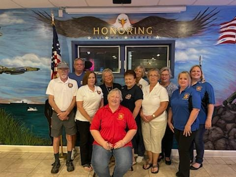 Nordonia Hills VFW Post 6768 recently elected officers for 2021-2022. Mary Volny President, is sitting in front. Standing, from left, are Dan Wright, Conductor; Duane Hiles, Guard; Kim Klush, Trustee; Terrie Lefler, Chaplain/Patriotic Instructor; Linda Skoczen, Jr. Vice, Karen Draves, Trustee; Loren Rasoletti, Trustee; Linda Kapan, Treasurer, Tracy Gruszewski,Secretary; and  Jackie Tritabaugh, Sr. Regent. Not pictured is Jeff Conway, Guard.
