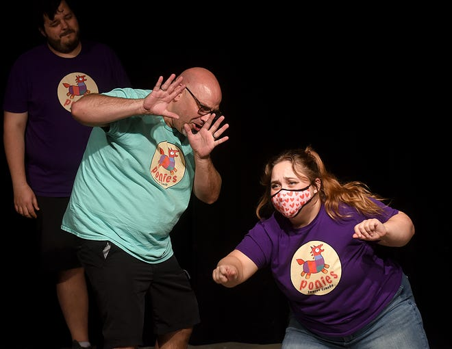 Talking Horse Ponies improv comedy performers Tony Ludden and Colleen Cutts perform Oct. 1 at Talking Horse Productions.