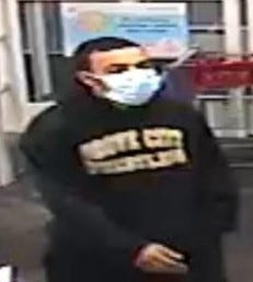 Whitehall Police are looking for a suspect involved in multiple robberies in the city since August.