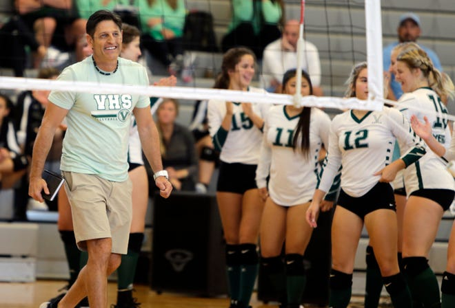 The Venice High volleyball team went into a hostile environment at Lemon Bay and defeated the Manta Rays, 3-1, at Thomas Catanzarite Gymnasium on Monday night in Engelwood.