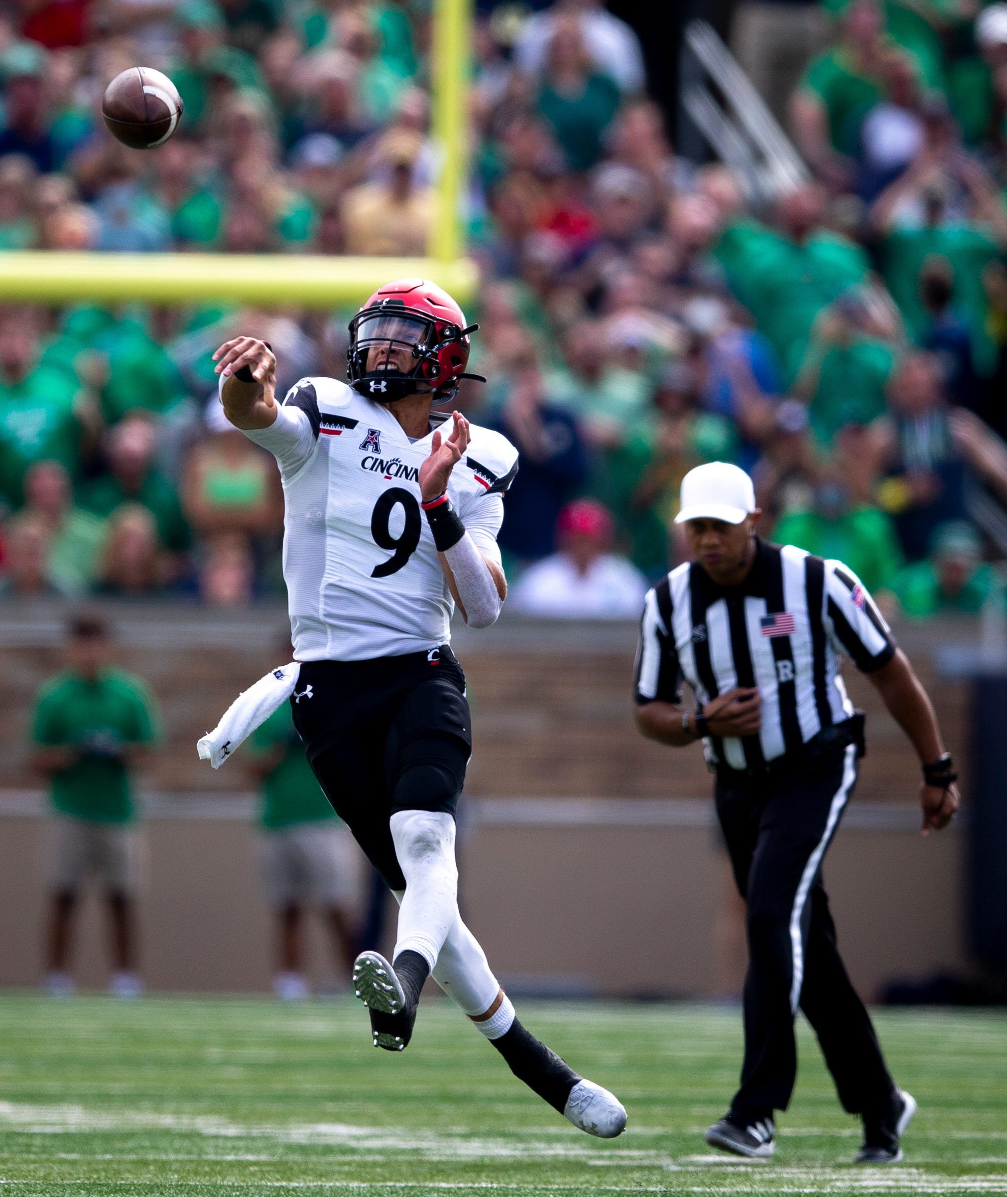 Reactions: UC takes 17-0 lead against Notre Dame in South Bend just before halftime