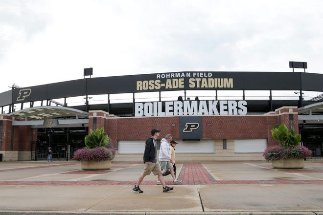 Outside Ross-Ade Stadium prior to a NCAA football game between the Purdue Boilermakers and the Minnesota Gophers, Saturday, Oct. 2, 2021 in West Lafayette.