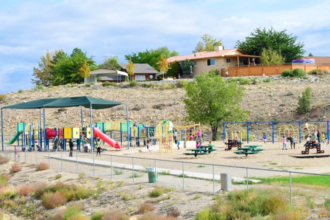 Students play on the Ladera Del Norte Elementary School playground in an undated photo. The replacement of the school's playground equipment is one of multiple projects which could be funded if voters approve a $8 million proposed bond For Farmington Municipal Schools on Nov.2.