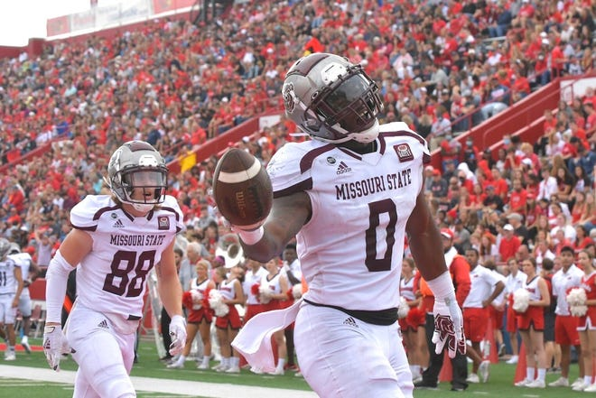 Scenes from a college football game between Missouri State and Illinois State in Normal, Illinois, on Saturday, Oct. 2, 2021.