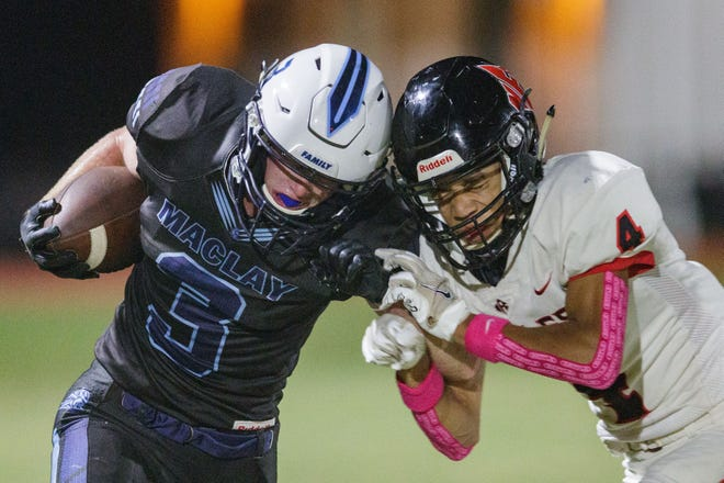 The North Florida Christian Eagles defeated the Maclay Mauraders 20-16 Friday, Oct. 1, 2021.