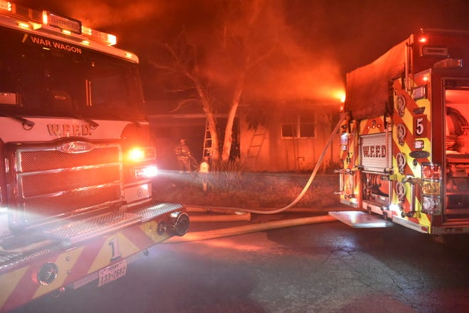 Wichita Falls firefighters extinguished a blaze in a home  Friday night.