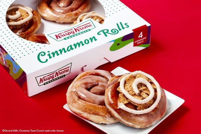 Krispy Kreme has cinnamon rolls for a limited time.