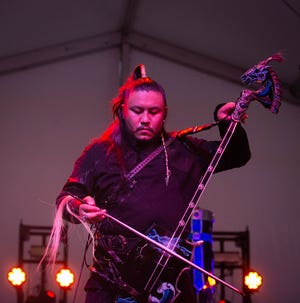 Mongolian rock band The Hu perform Saturday, Oct. 2, 2021, during the second day of Austin City Limits Music Festival.