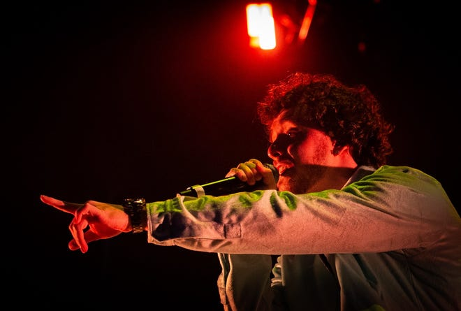 Rapper Jack Harlow performs Saturday, Oct. 2, 2021, during the second day of Austin City Limits Music Festival.