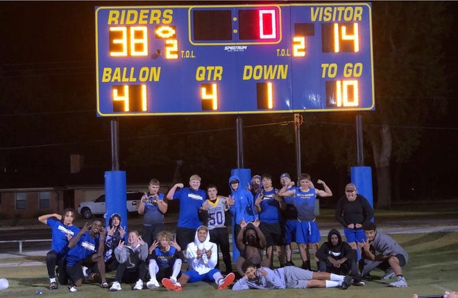 The Boys Ranch football team snapped a 49-game losing streak last Friday, Oct. 1, 2021 at home. It was the longest losing streak in the state of Texas before the Roughriders secured the win.