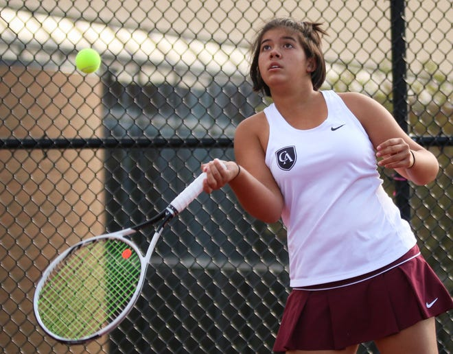 Yasemin Bilgin and Columbus Academy defeated host Wellington 3-2 on Oct. 2 in an Ohio Tennis Coaches Association Division II district final. The Vikings will compete in a state semifinal Oct. 24 at Upper Arlington.